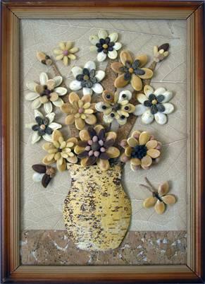 Картина из семян своими руками фото