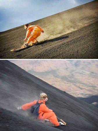 Volcano boarding - новый экстрим