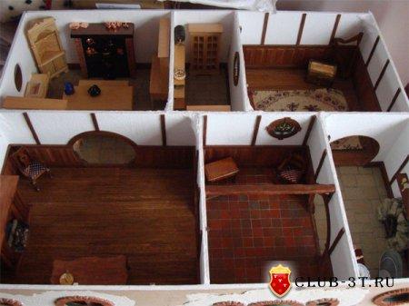 Домик для хомяков из картона