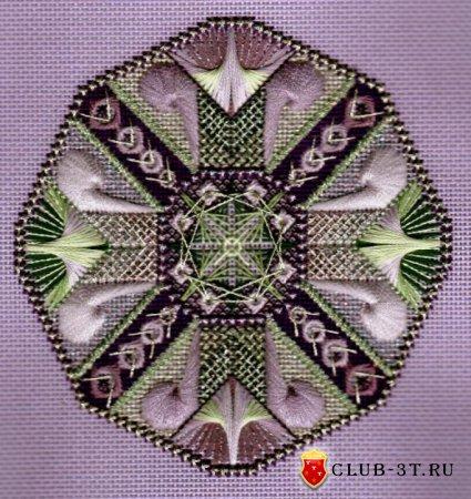 Вышивка на моноканве