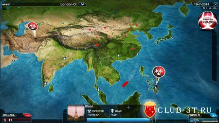 Plague Inc Evolved Trainer version 0.7.1 + 1