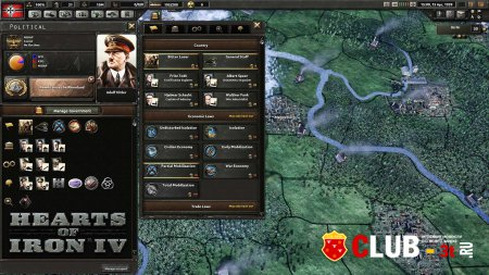 Hearts of Iron IV Trainer version 1.0 + 8
